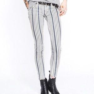 Free people stripe jeans 25